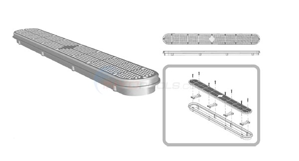 Custom Molded Products Main/Channel Drains Diagram