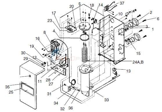 teledyne laars electra ii heaters parts - inyopools.com teledyne laars boiler wiring diagram