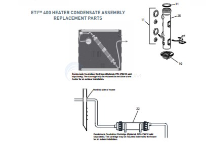 ETI 400 Heater Condensate Assembly  Diagram