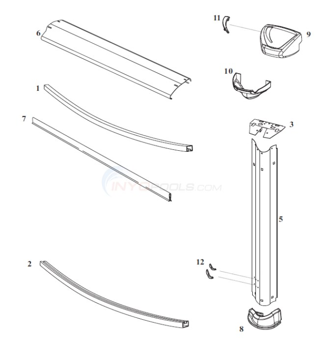 "Evolution 27' Round 52"" (Steel Top Rail, Steel Upright) Diagram"