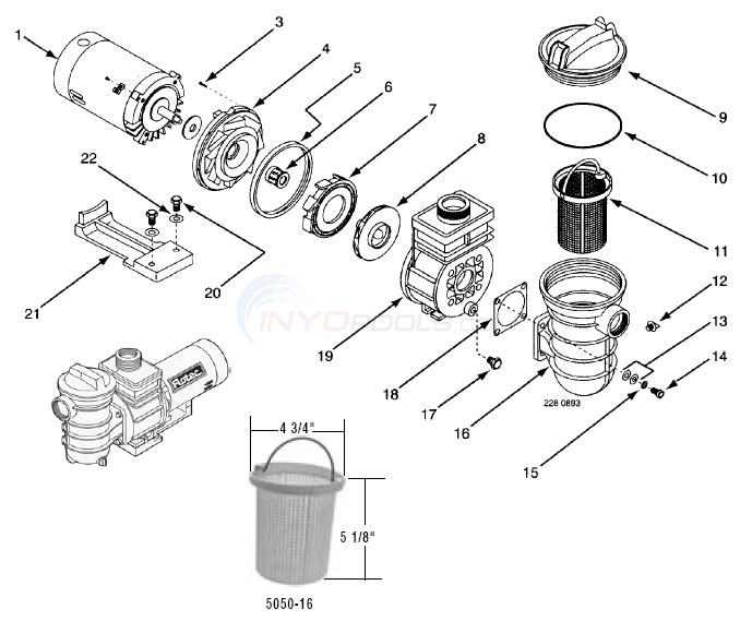 Flotec AG Pump, Models FP6022, FP6042 Diagram
