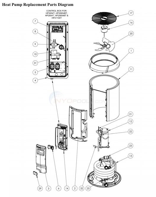 Heat Pump Parts Diagram hayward heatpro set 4 parts - inyopools