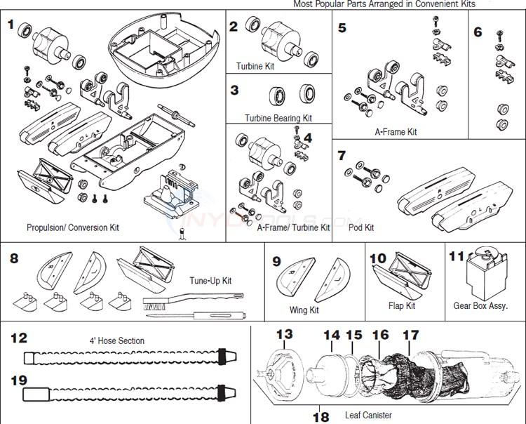 Hayward Arneson Cleaners Pool Vac Amp Navigator Parts