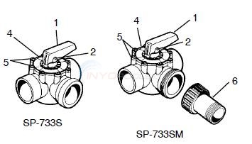 Hayward 3 Way SP-733S & SP-733SM Parts Diagram