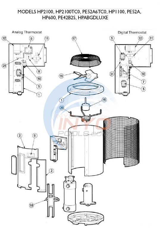 Hayward Heatpro Models Hp2100 Hp2100tc0 Hp1100 Hp600