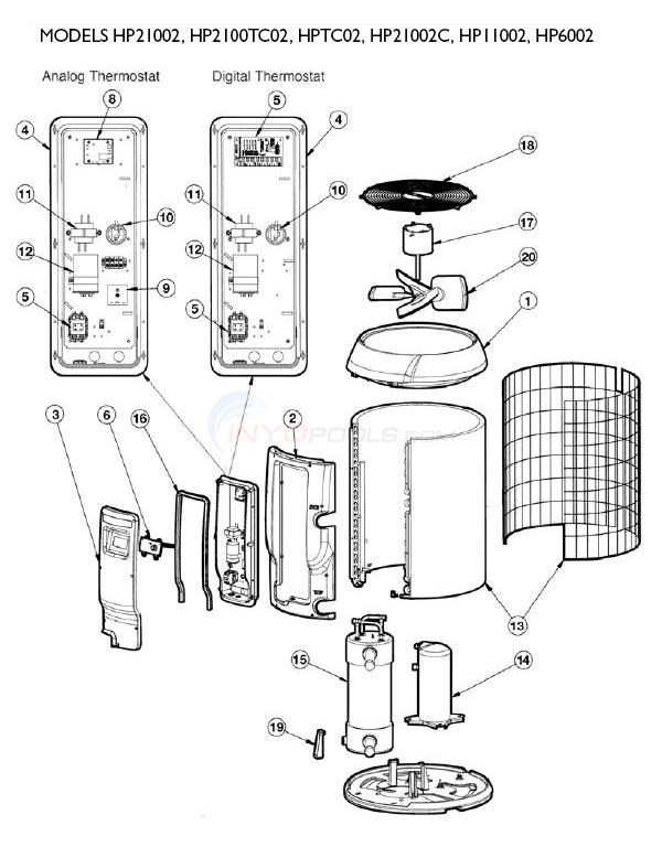 Heat Pump Parts Diagram hayward heatpro heat pumps set 2 parts - inyopools