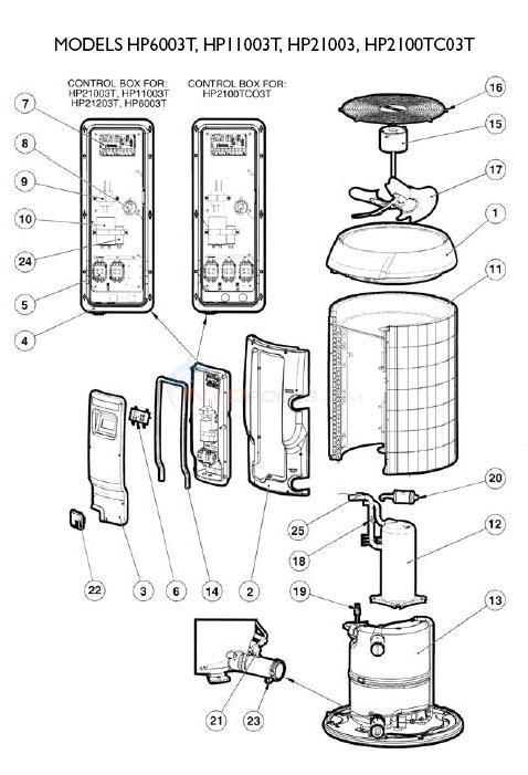 hayward heatpro heat pumps set 3 parts inyopools com rh inyopools com hayward titanium heat pro manual hayward heat pro manual en español