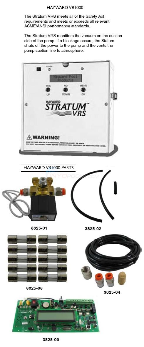Hayward Safety Vacuum Release System, VR1000 Diagram