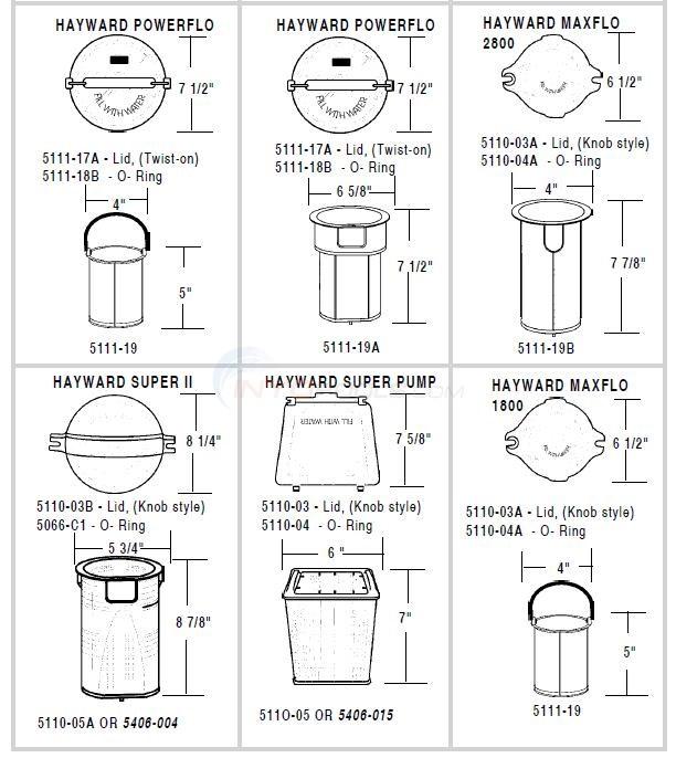 Hayward Pump Lids Baskets Parts Inyopools Com
