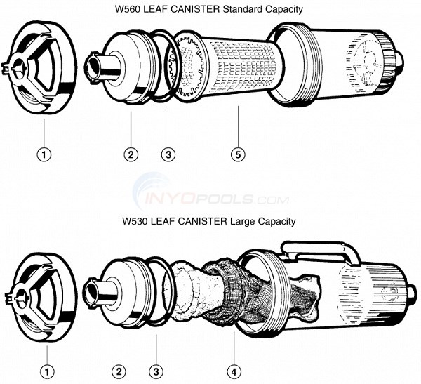 Hayward Leaf Canisters Diagram