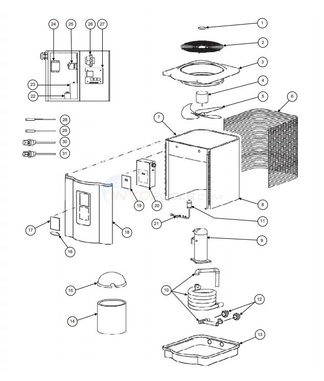Hayward HeatPro Heat Pump - HP50TA Diagram