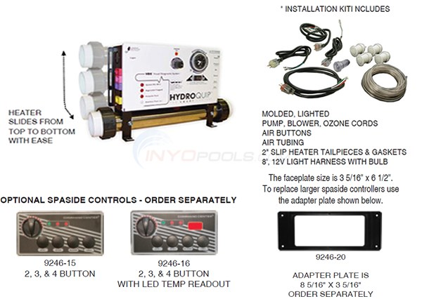 Hydroquip CS6000 Slide Series (Air Button) Parts Diagram