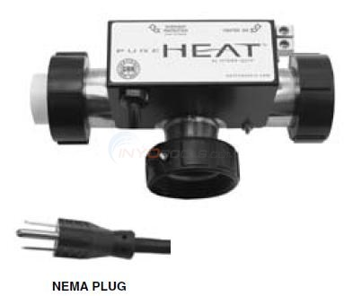 Hydroquip Pure Heat T Style Bath Heater Diagram