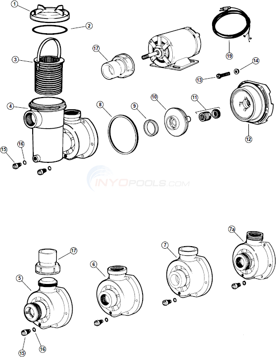 Jacuzzi Pump Parts Diagram