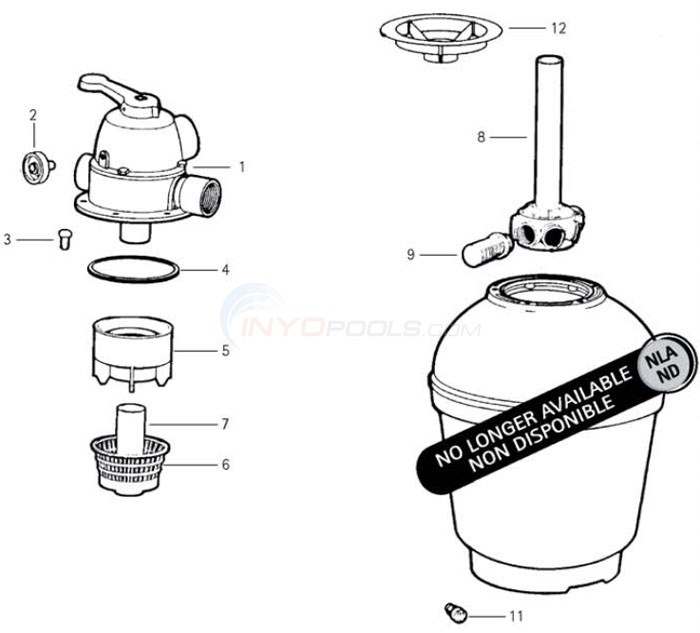 Jacuzzi MFM15 Sand Filter Diagram