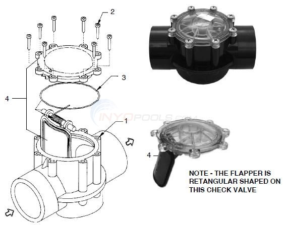 Jandy CPVC Check Valve Parts Diagram