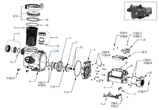 Jandy E Pump Series Parts Inyopools Com