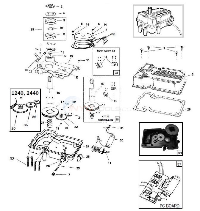 Jandy Valve Actuator Parts Diagram