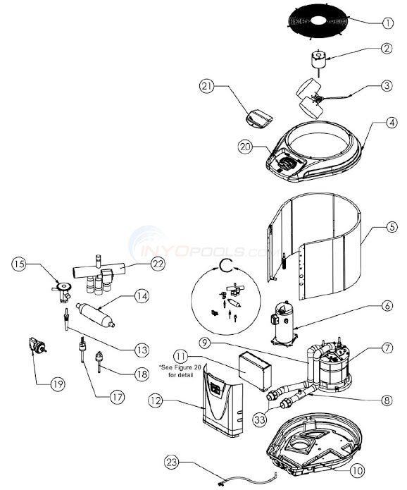 Jandy Pro Series JE 2000, JE2500, JE3000 Heat Pump Parts