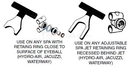 Wrenches, Retaining Ring - Hydro Air, Jacuzzi, Waterway Diagram