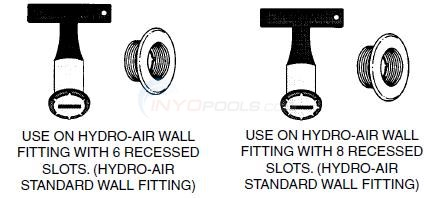 Wrenches, Wall Fitting - Hydro Air  Diagram