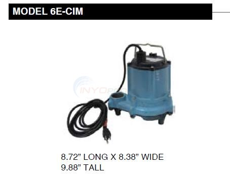 Little Giant 6E-CIM Sump Pump Diagram