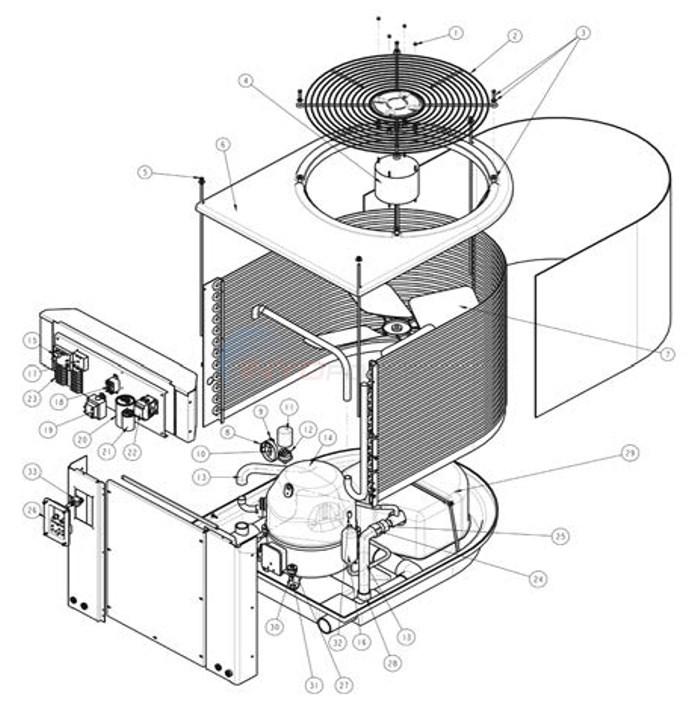 Heat Pump Parts Diagram minimax plus hp heat pump parts - inyopools