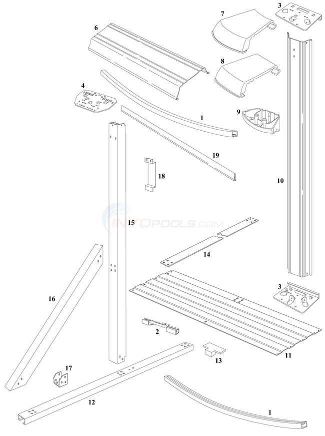 Monaco Elite 16'x24' Oval (Steel Top Rail, Steel Upright