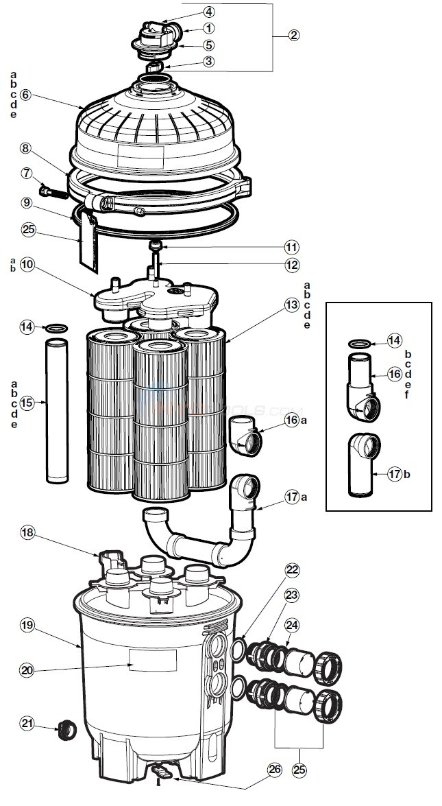 Hayward SwimClear C2030, C3030, C4030, C5030, C7030 Diagram