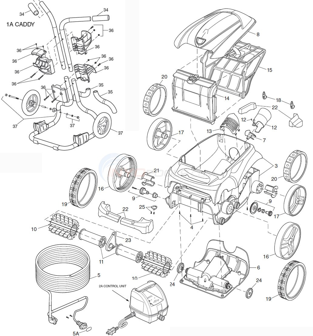 Polaris 9300 Sport Robotic Cleaner Parts Diagram