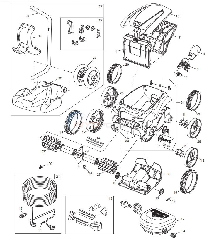 Polaris 9350 Sport Robotic Cleaner Diagram
