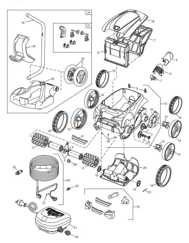 Polaris 9450 Sport Robotic Cleaner Diagram