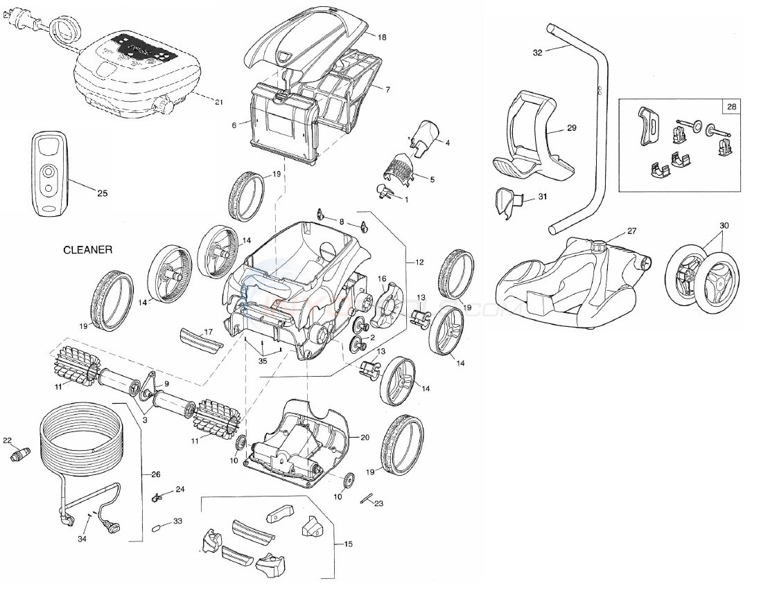 Polaris 9550 Robotic Pool Cleaner Diagram