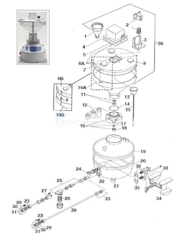 Polaris /Watermatic G-1000 Feeder Diagram