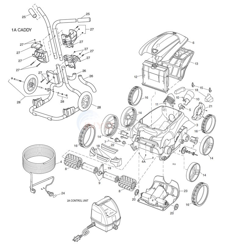 Polaris 9400 Sport Robotic Cleaner Diagram