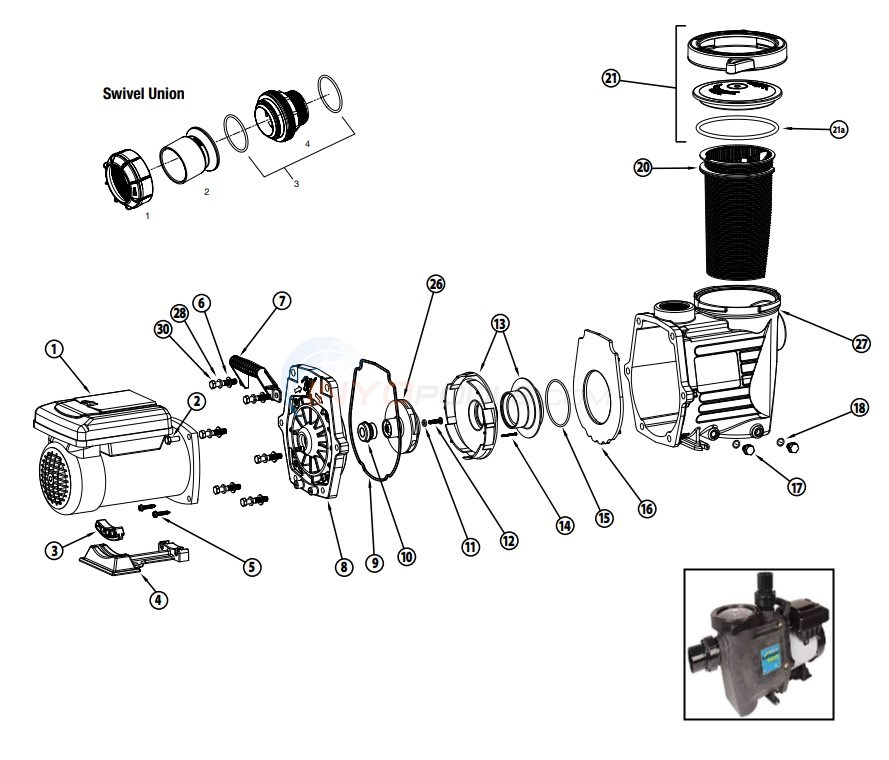 Waterway Power Defender 165 Variable Speed Pump Diagram
