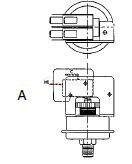 Tridelta Pressure Switches DPDT 4 Terminals Diagram