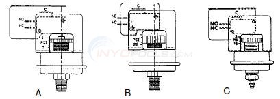 Tridelta Pressure Switches SPDT 3 Terminals Diagram