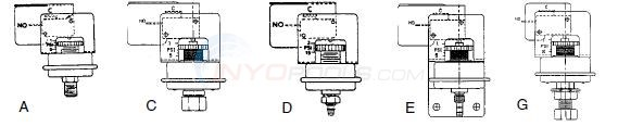 Tridelta Pressure Switches SPST 2 Terminals Diagram