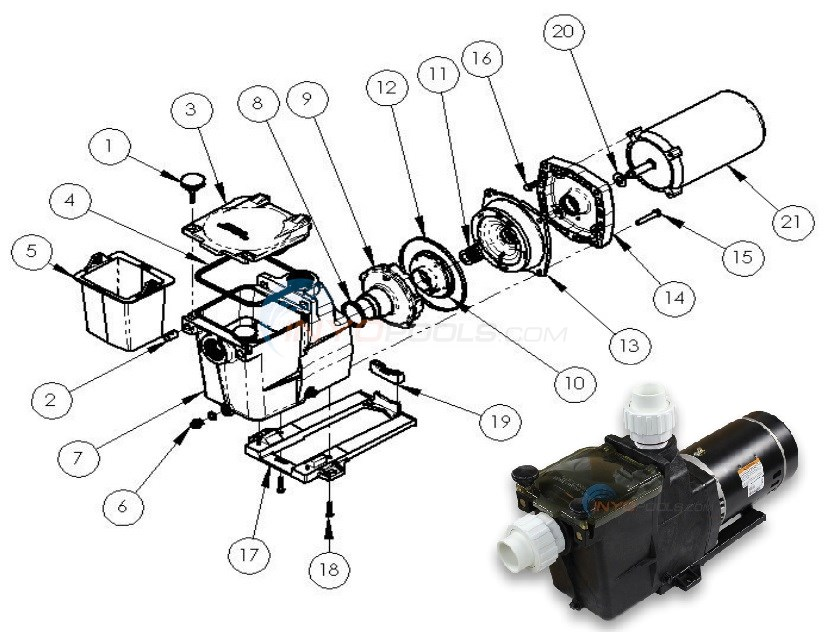 PureLine Prime Pump - PL26 Series Diagram