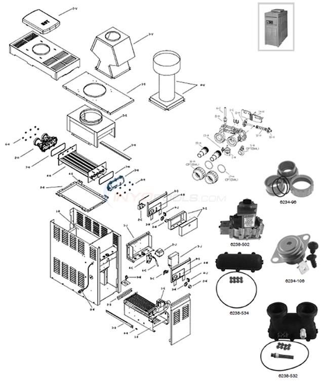 Raypak Versa 130A Heater (10/30/05-Current) Parts