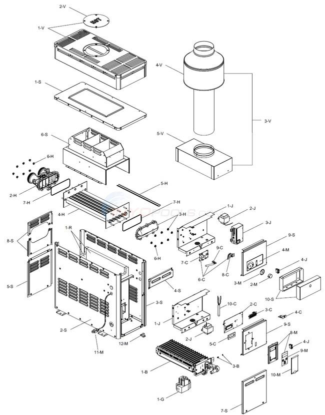 Raypak R106a Amp R156a 6 01 13 Current Parts Inyopools Com