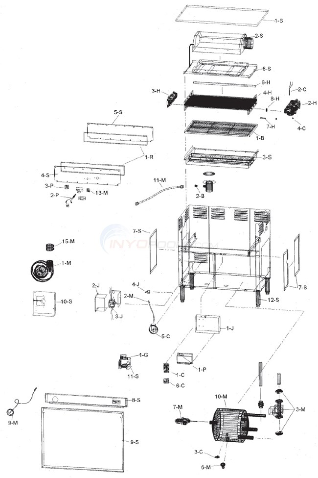 Raypak Booster Heater B-195 (9/01/95-2006) Parts