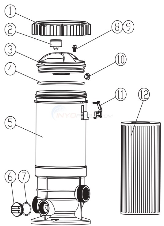 PureLine Cartridge Filter PL1520 Diagram
