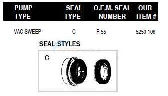 Polaris Pump Shaft Seals Diagram
