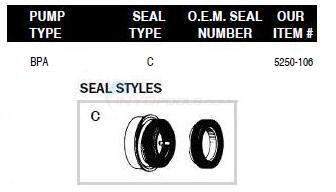Sea Blue Pump Shaft Seals Diagram
