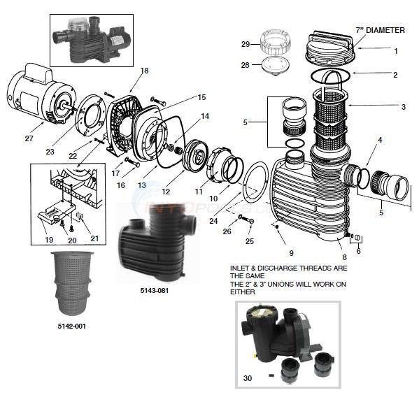 Speck    Hydrostar    Model 98    Pump    Parts  INYOPools