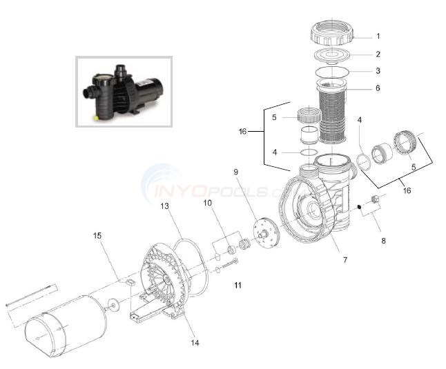 Speck Model A-91 Pump  Diagram