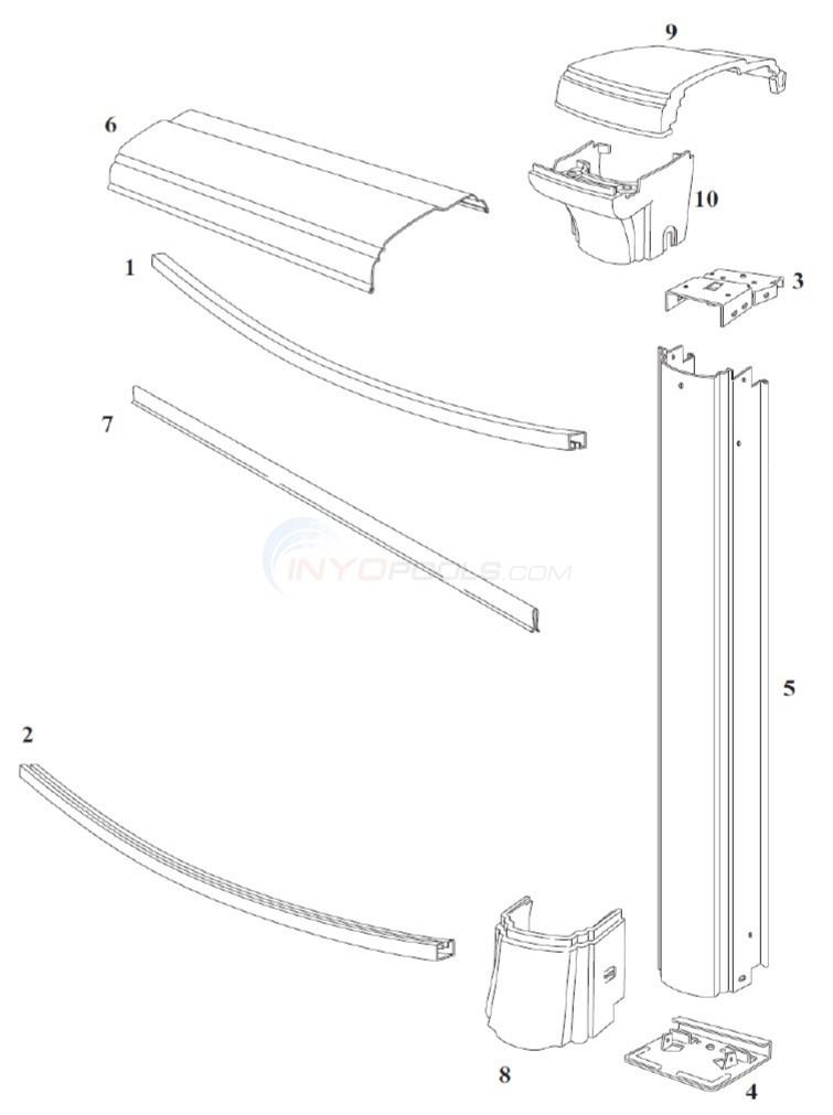 "Summerfield 21' Round 52"" Wall (Steel Top Rail, Steel Upright) Diagram"