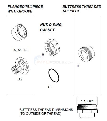 "1"" Union Components  Diagram"